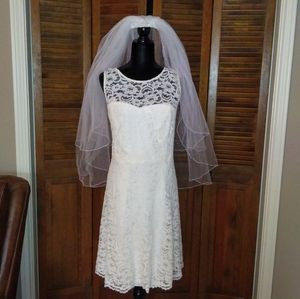 David's Bridal Lace Dress Sz 20